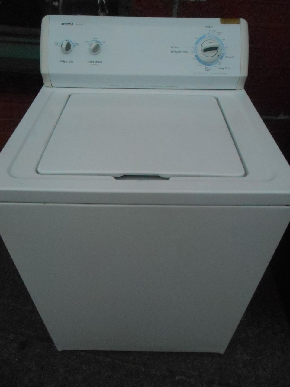 how to clean kenmore top load washer