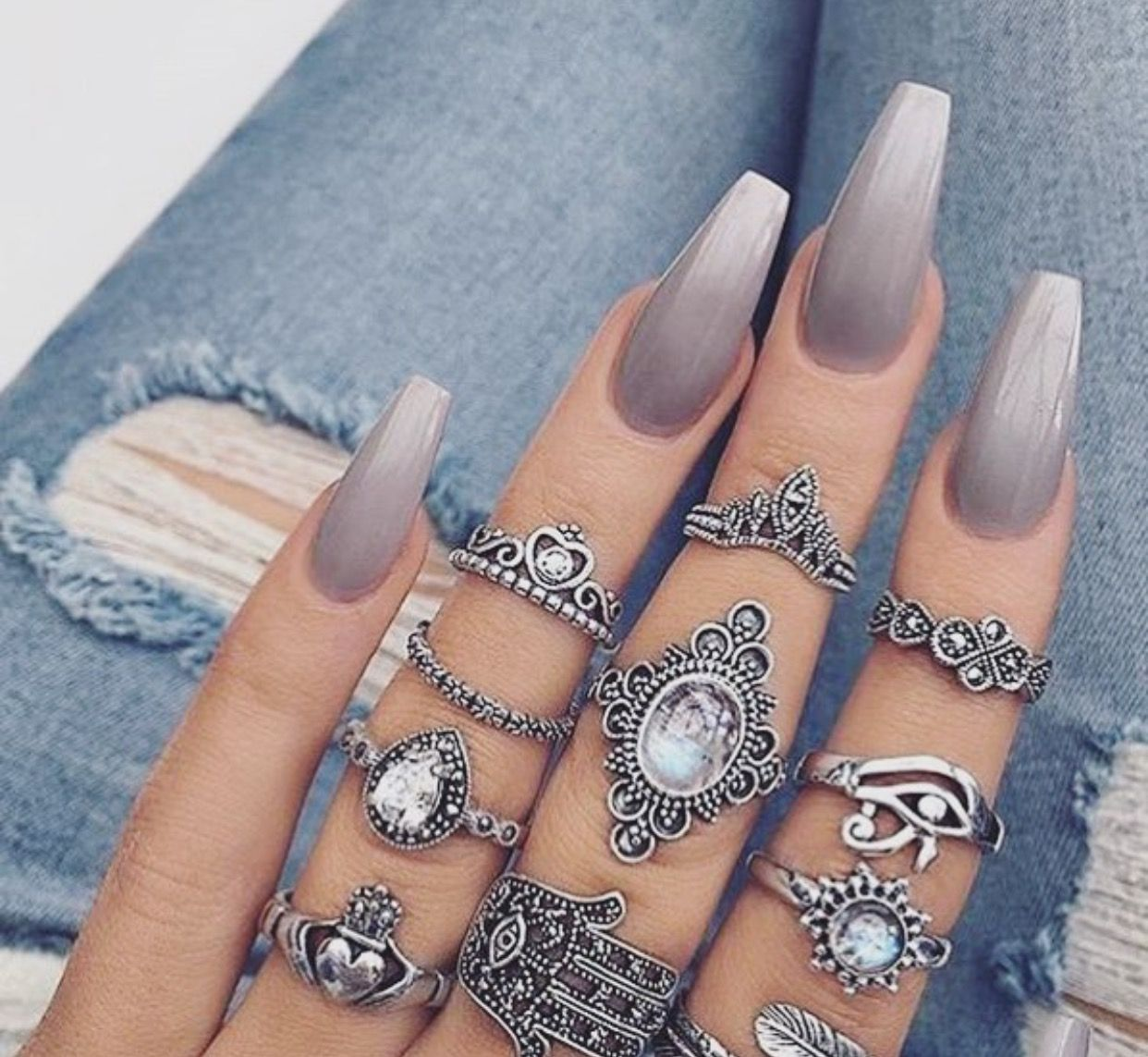Follow me for more : @ GirlNextdoor | Nails | Pinterest | Gray nails ...