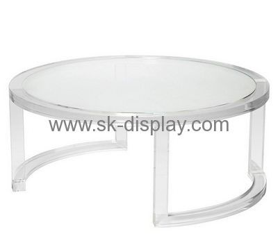 396ddbf748da Acrylic display manufacturers customized coffee table designs small round  side table AFS-114