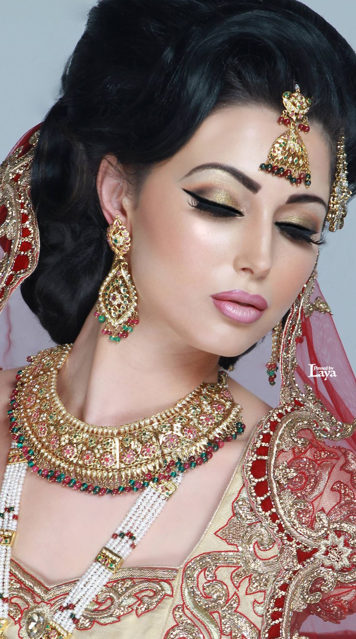 Jewels pinterest beautiful indian wedding jewellery and jewellery - Stylish Bridal Jewelry And Makeup Styles For Girls