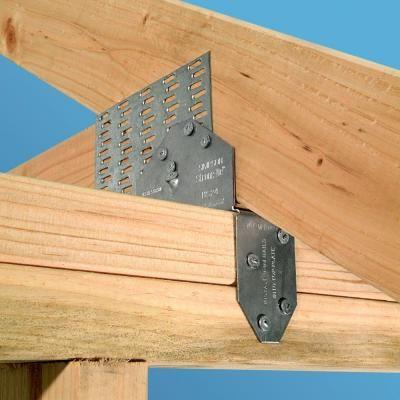 Simpson Strong-Tie 18-Gauge Saddle Rafter Tie | exterior in
