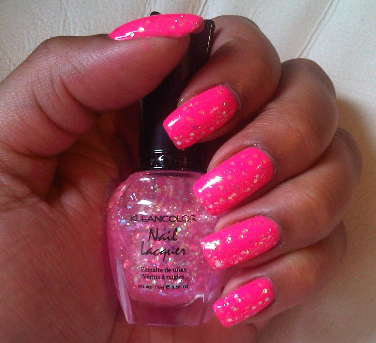 Mix Signal over Neon Pink | Kleancolor Nail Lacquer | Pinterest ...