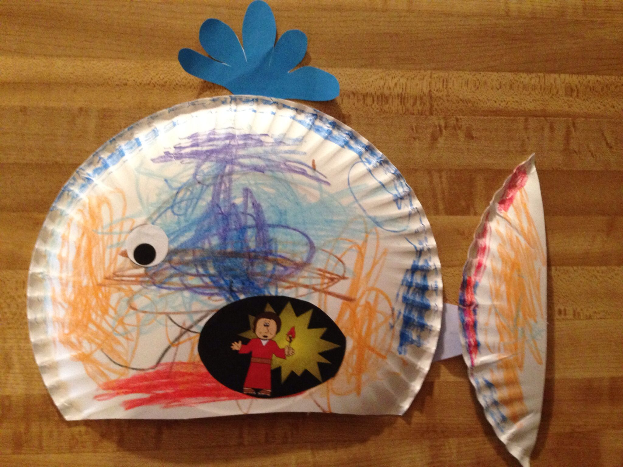 Jonah and the whale craft huge hit with kindergarten age for Whale crafts for kids