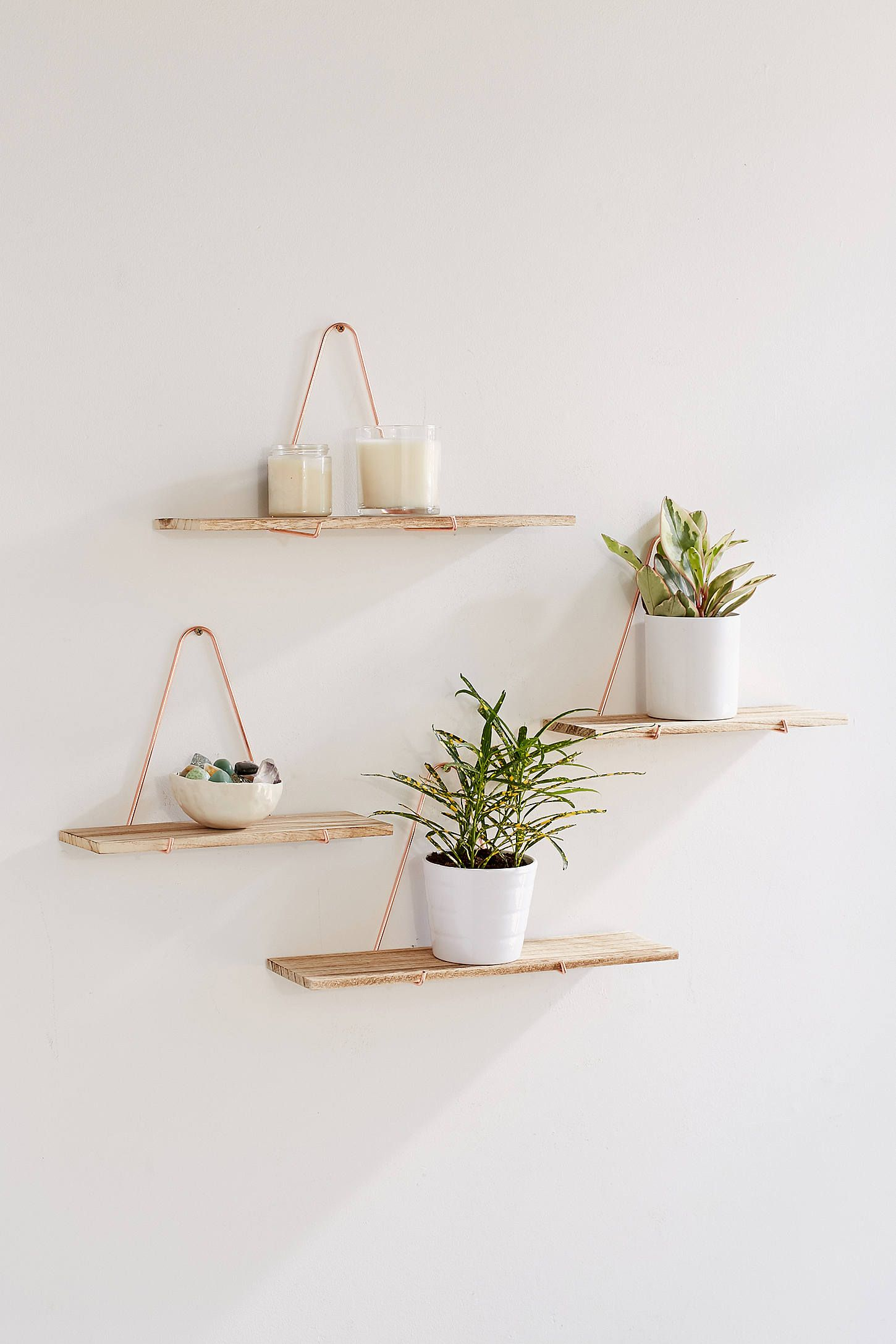 carter triangle bracket wall shelf