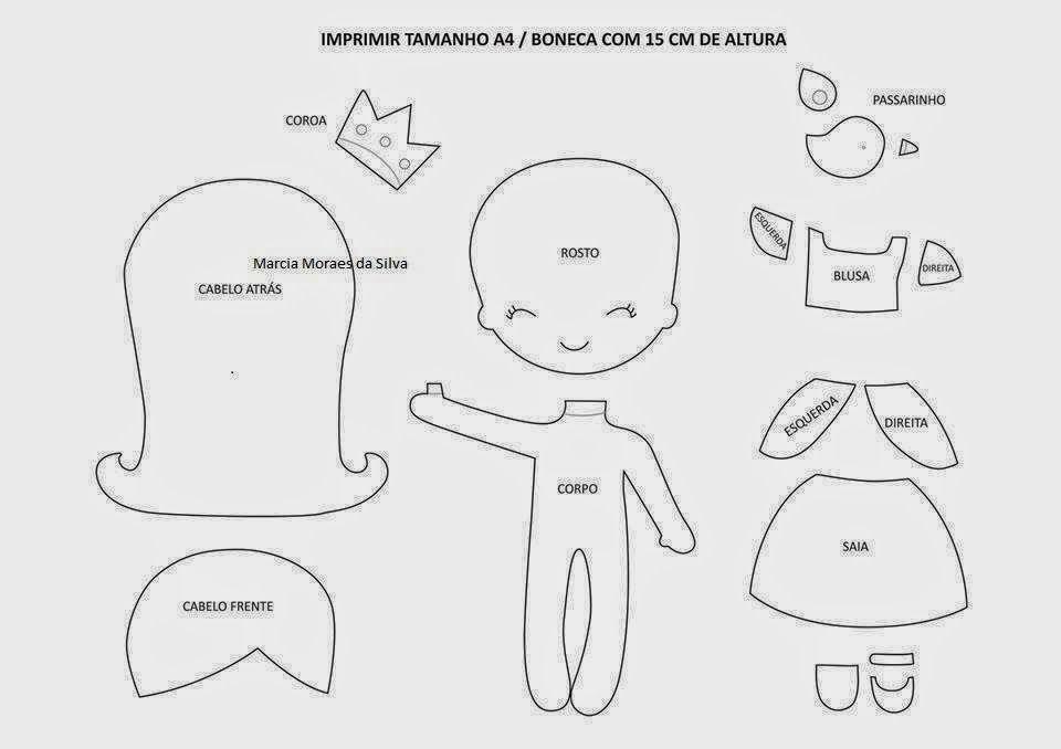 Patrones para coser   muñecas de fieltro   Pinterest   Patrón para ...