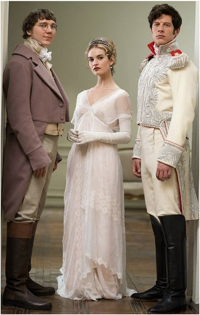 War and peace 2016: Lily James, James Norton, Paul Dano