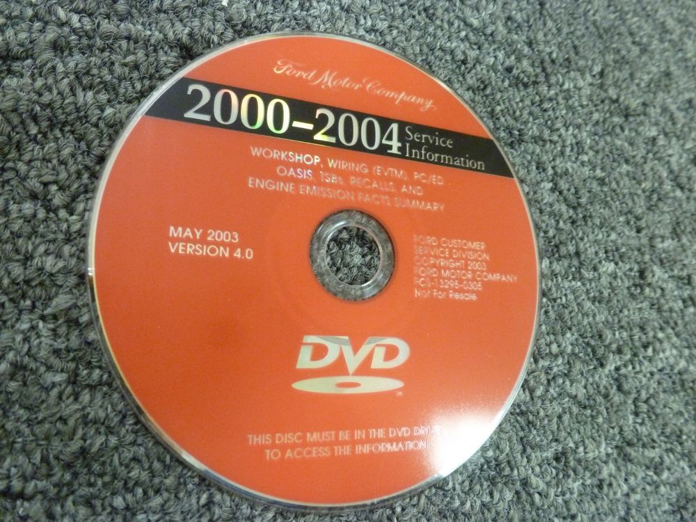 2000 ford e-350 econoline van shop service repair manual dvd