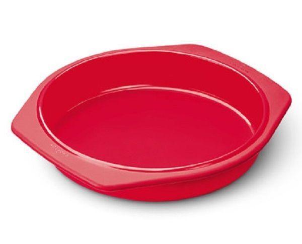 Cake Pie Baking Pan Mold Round Red 9 Quot Kitchen Bakeware