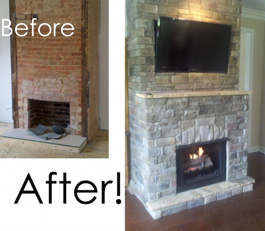 Fireplace Remodel Guuoous Redo Brick Fireplace ~ dact.us