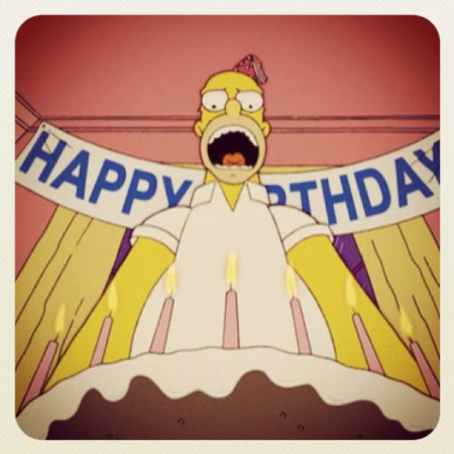 Homer Birthday Simpsons Pinterest