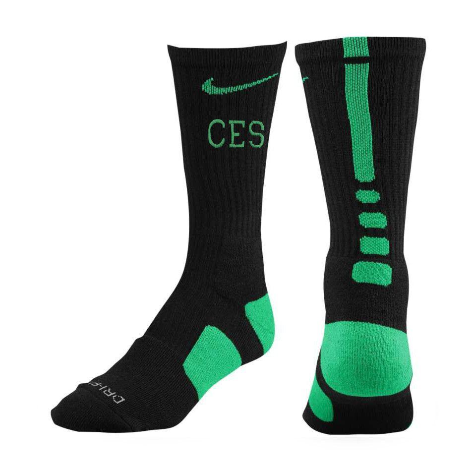 Nike Elite Black Sock With Green Stripe $14 | Products I ...