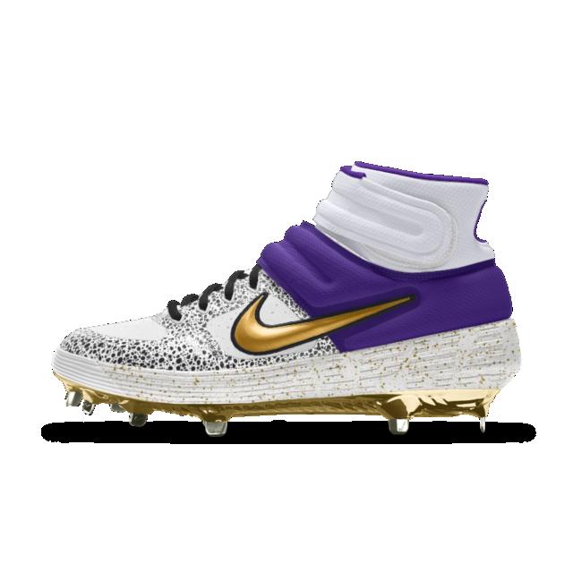 Nike Alpha Huarache Elite 2 Mid Metal Premium By You Custom Baseball Boot Baseball Boots Nike Favorite Boots