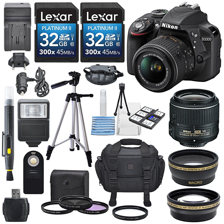 Nikon D3300 242mp Cmos Digital Slr Camera With Af S Dx Nikkor 18 Kit 55mm Vr Ii
