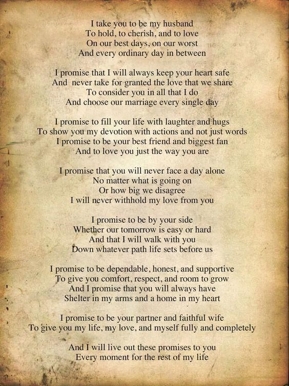 traditional wedding vows to husband make you cry how to