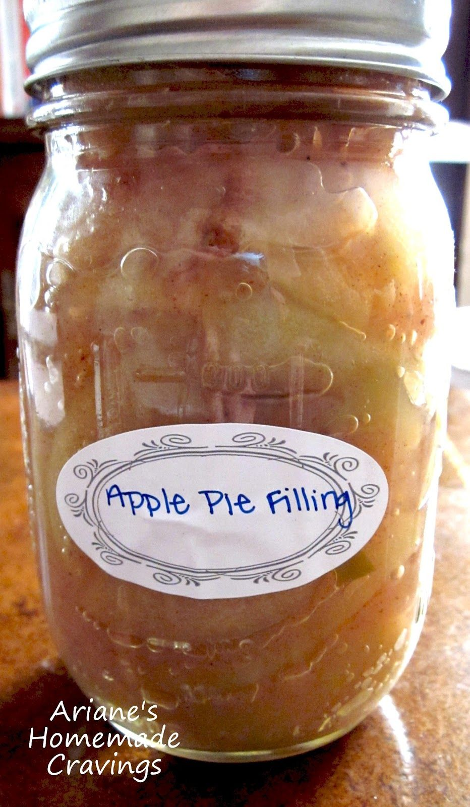 Ariane's Homemade Cravings Canned Apple Pie Filling   Apple pies ...