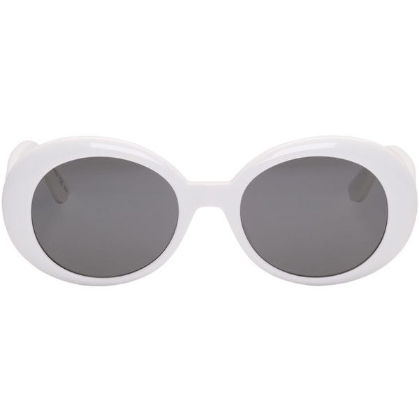 33e31dd89c Saint Laurent Ivory SL 98 California Sunglasses ( 345) ❤ liked on Polyvore  featuring accessories