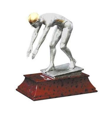 "Male Swimming Trophy - Elite Resin 6"""