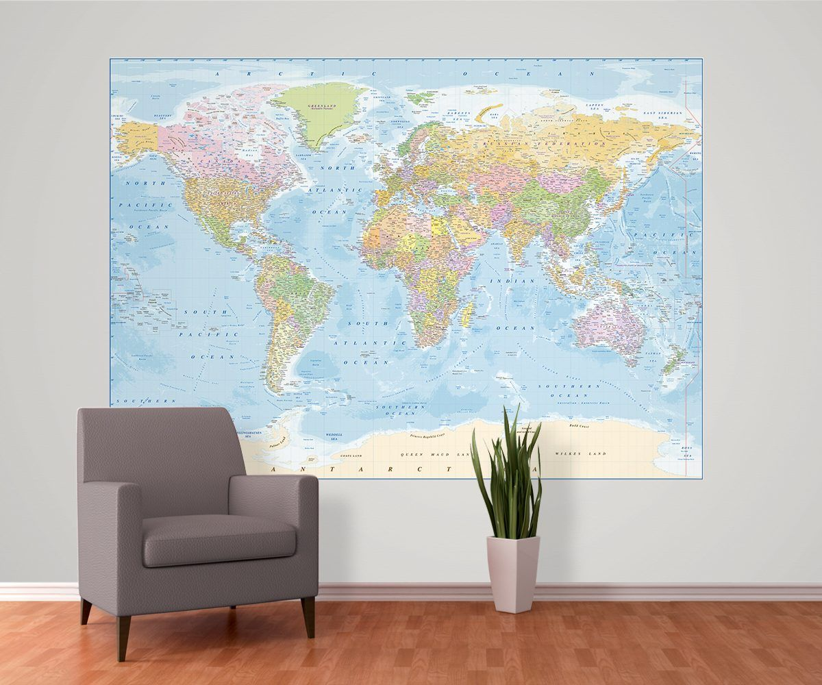 World map wallpaper buy online maps international free world map wallpaper buy online maps international gumiabroncs Choice Image