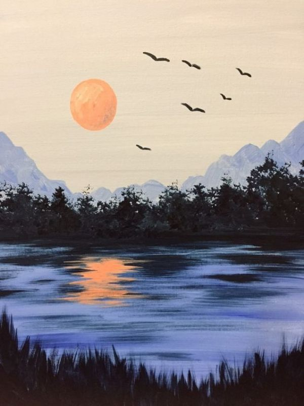 40 Simple And Easy Landscape Painting Ideas Easy Landscape