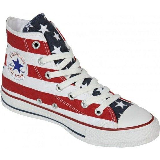 Pies suaves America ecuación  American flag 3 shoes by alyce | American flag converse, American flag  shoes, Converse