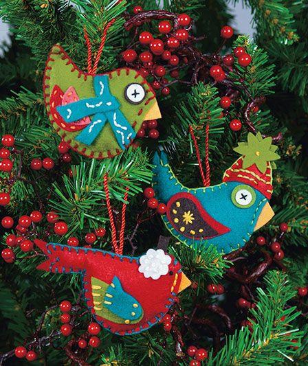 Easy-To-Sew Felt Holiday Ornament Kits ABC Distributing Crafty