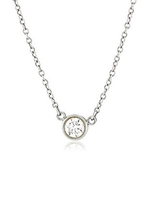 Tiffany co platinum bezel set diamond solitaire pendant tiffany co platinum bezel set diamond solitaire pendant necklace aloadofball