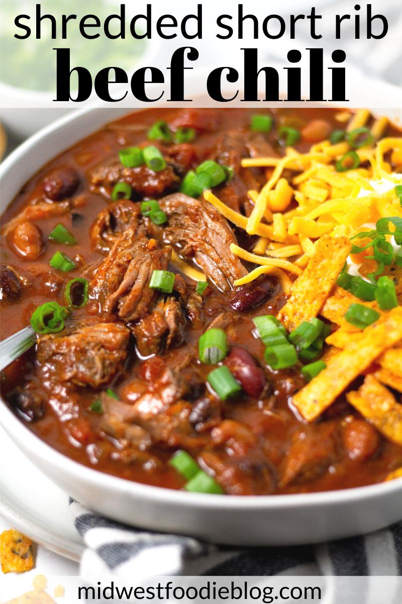 Beef Short Rib Chili Recipe Short Rib Chili Beef Short Ribs Healthy Meat Recipes