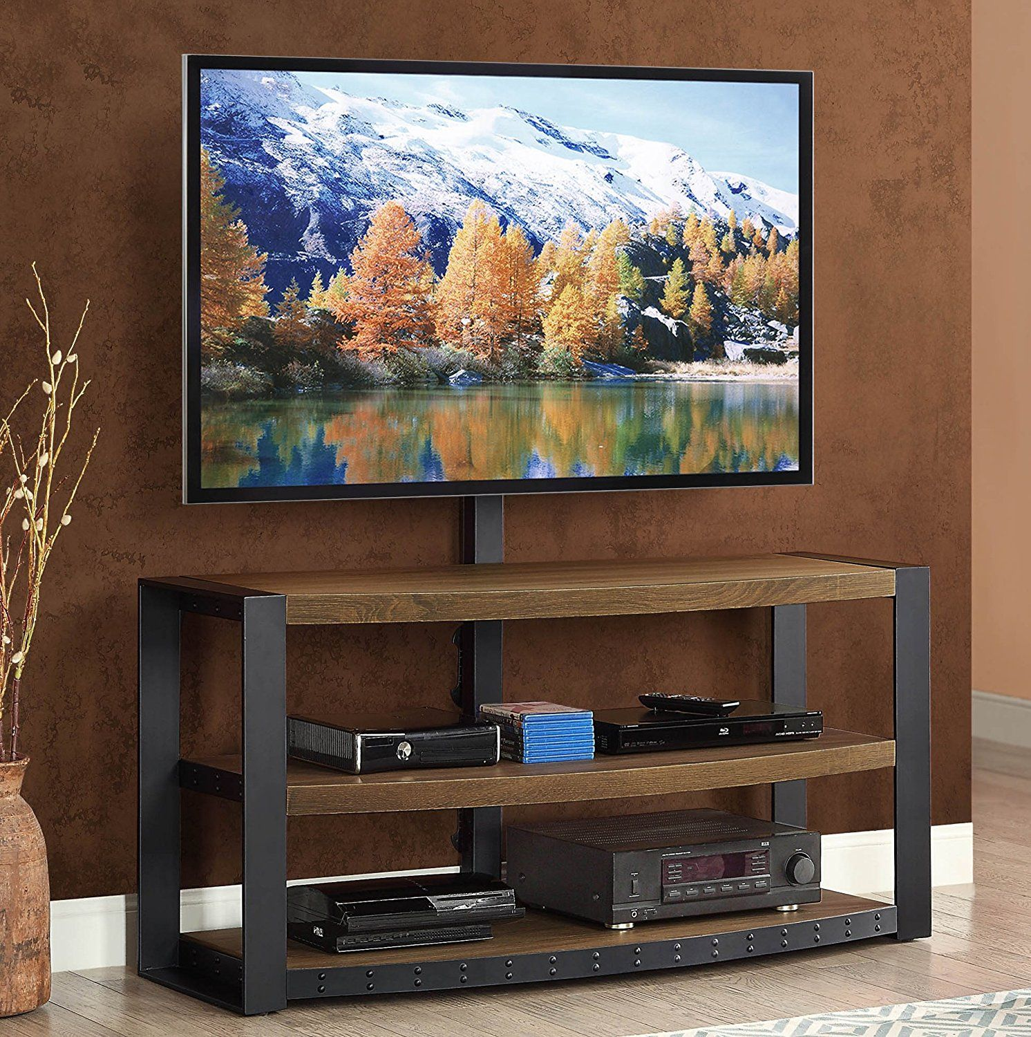 1 Top 10 Best Tv Stands With Mount Review In 2017 Whalen
