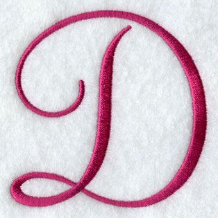 Fancy Flourish Capital Letter D