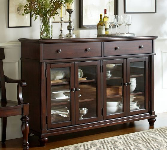 Lawton Gl Door Buffet Pottery Barn 1499 00