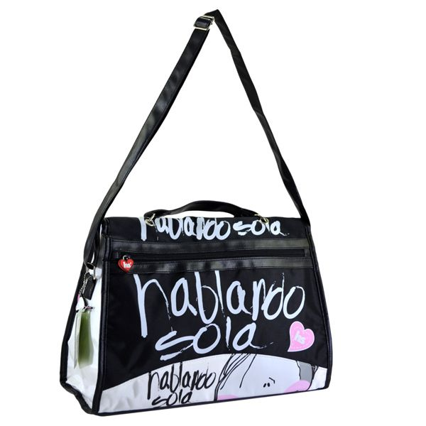 Find More Shoulder Bags Information about Black multifunctional girls casual handbag, cute cartoon and letter printing shoulder crossbody bag womens SO 260B,High Quality bags of cotton candy,China bag storage Suppliers, Cheap handbag caddies from Culture Clubs on Aliexpress.com