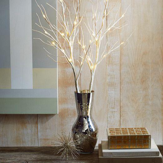 LED glow glitter branches Diseño de Interior Pinterest House