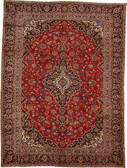 Antique Authentic Persian Kashan Rug Is Hand Knotted Of 100 Natural Wool And Has 100 Knots Per Square Inch 500 Rugs Persian Rug Large Area Rugs