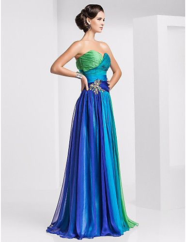 Sheath/Column Sweetheart Floor-length Chiffon Ombre Evening/Prom Dress - AUD $ 242.61