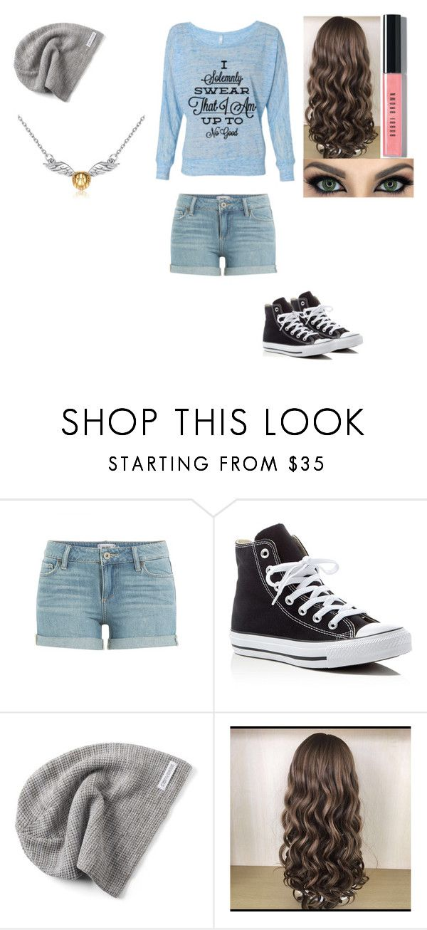 """Untitled #284"" by mcderr ❤ liked on Polyvore featuring Paige Denim, Converse and Bobbi Brown Cosmetics"