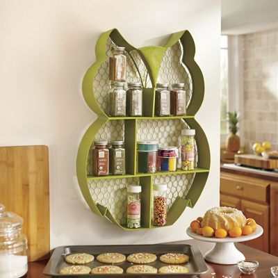 Owl Wall Shelf! OMG! Where Have You Been All My Life?! Owl Kitchen DecorTeal  ...