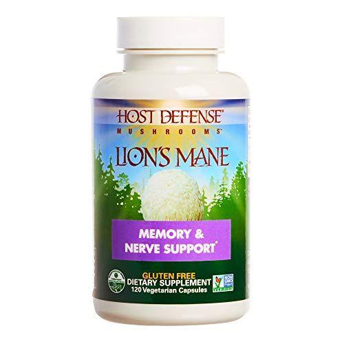 Host Defense, Lion's Mane Capsules, Promotes Mental Clarity, Focus and Memory, Daily Mushroom...