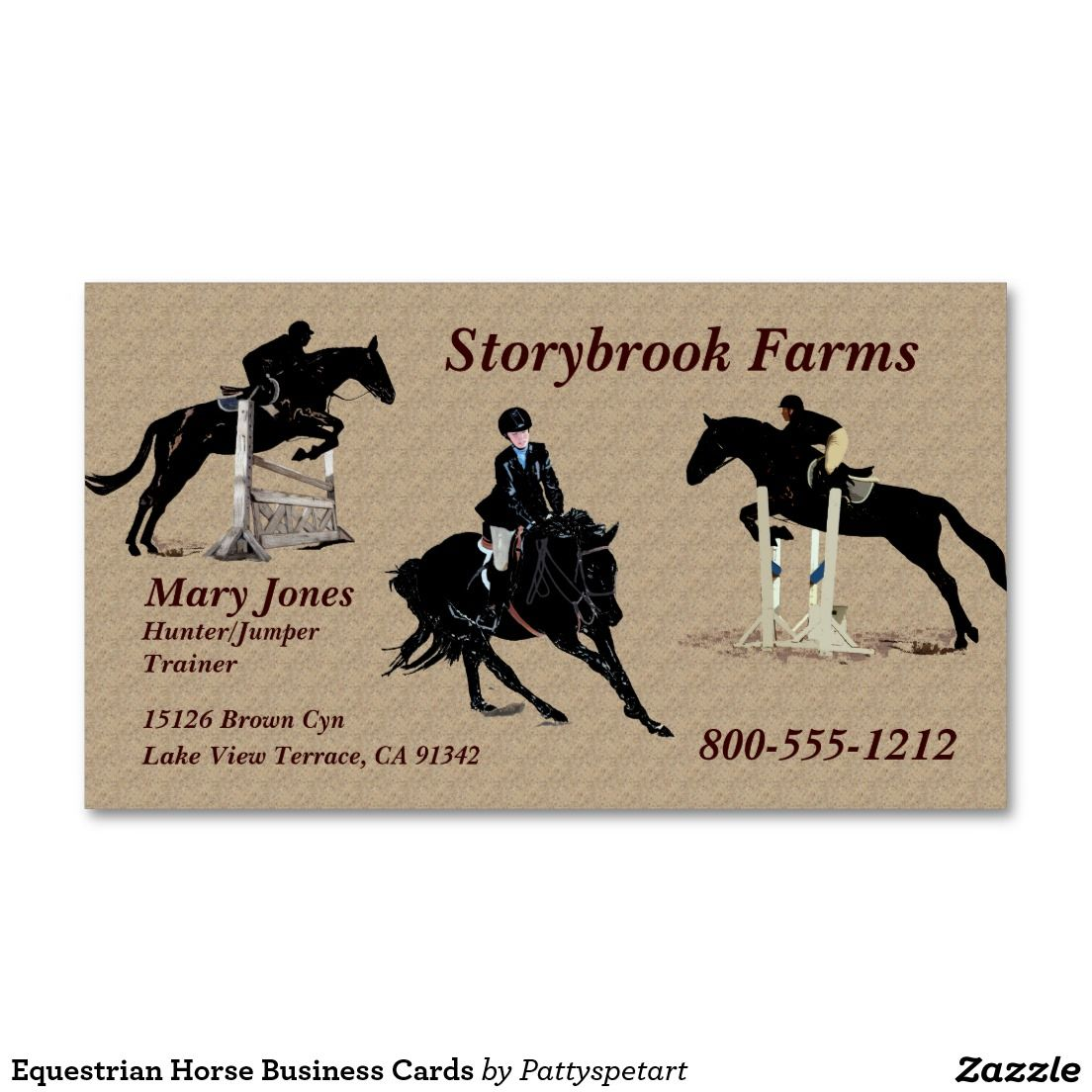 Equestrian Horse Business Cards   Business cards and Horse