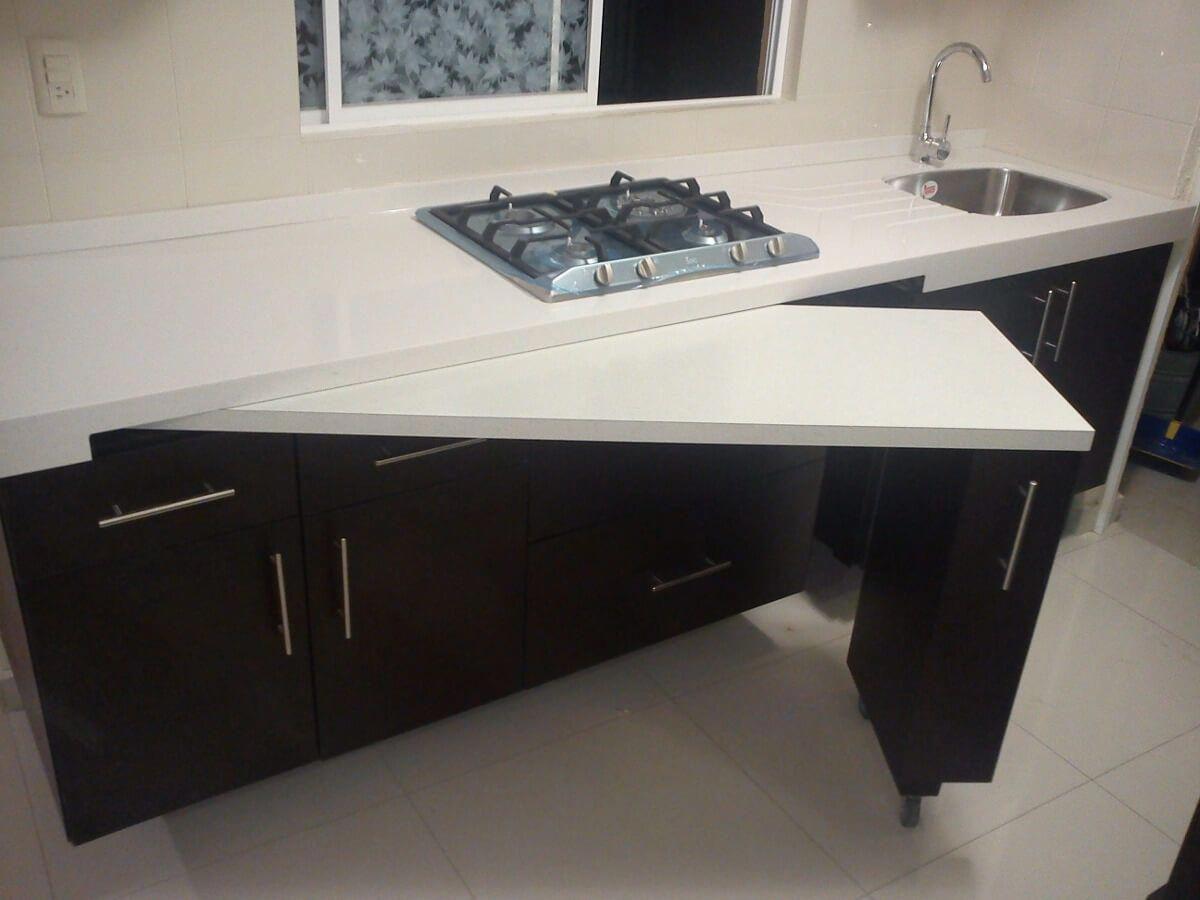 Space Saving Hidden Counter Top Kitchenideas Kitchen Remodel Small Kitchen Design Kitchen Renovation
