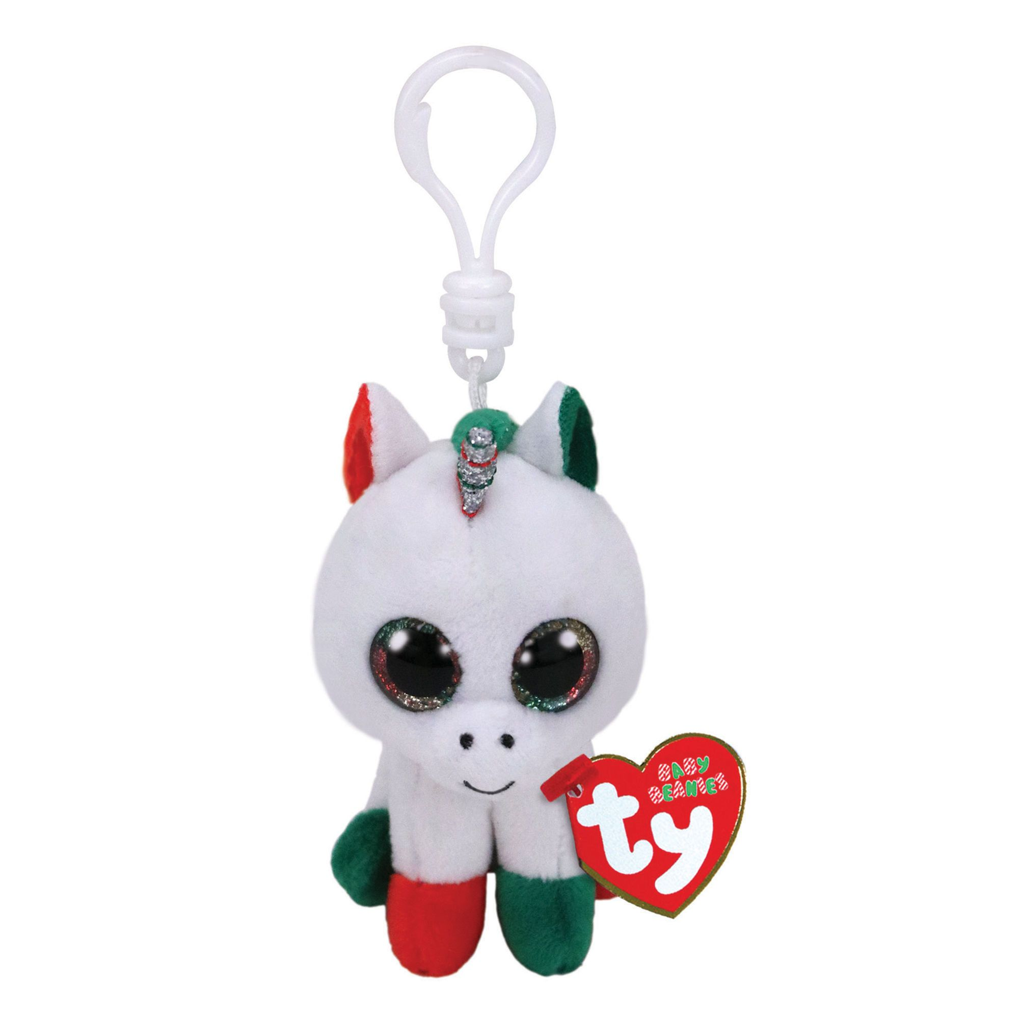 e553d7fb33d Ty Beanie Boo Candy Cane the Unicorn Keyring Clip ...