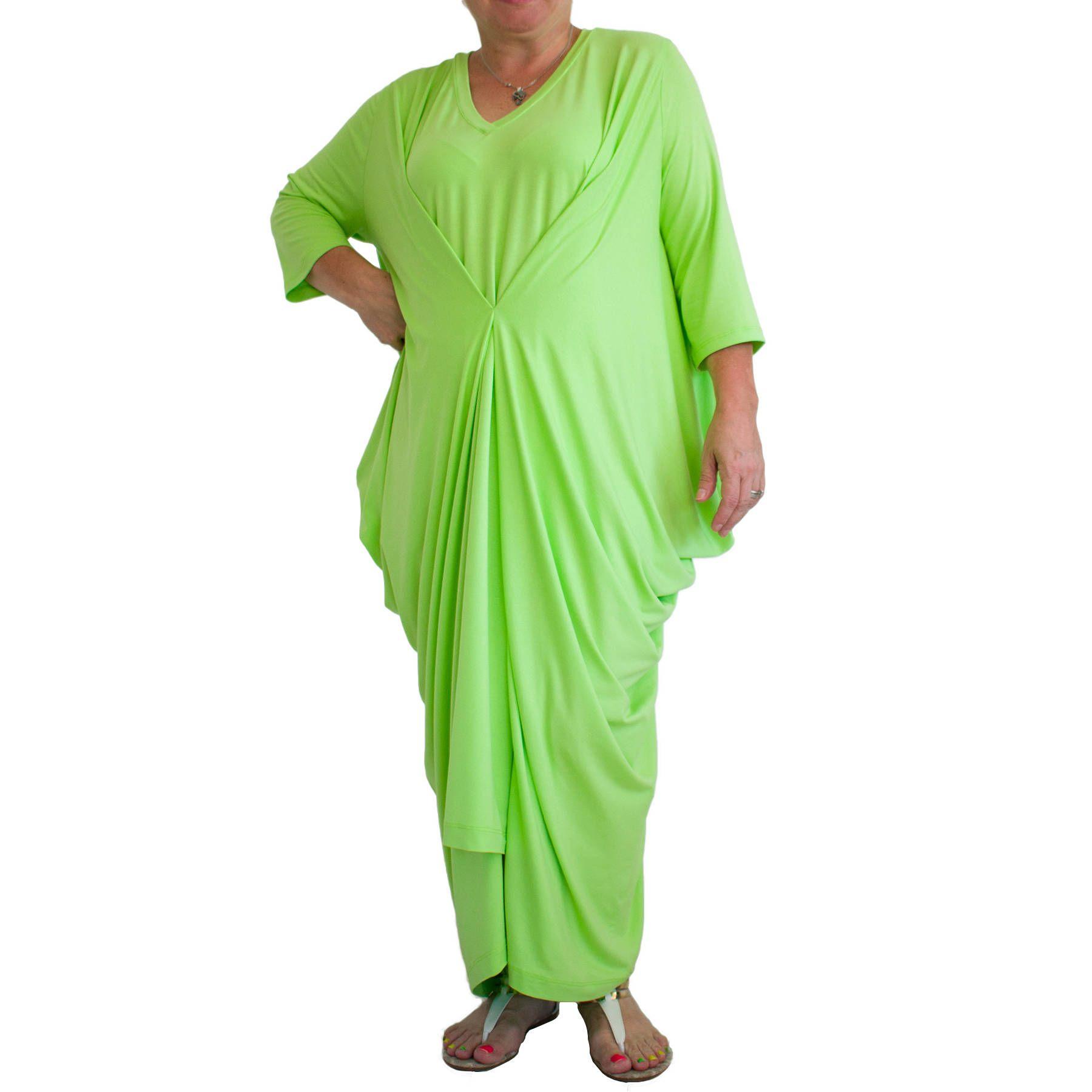 Women maxi dress loose tunic plus size tunic dress vneck kaftan