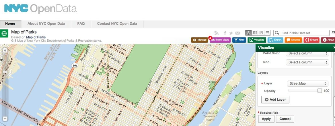 Check out NYC's Map of Parks to identify a few locations to soak up the sunshine this Spring. https://nycopendata.socrata.com/d/jc79-4imn