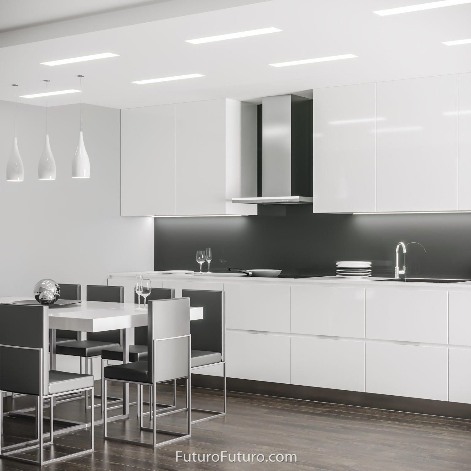 24 Streamline White WallOnly 15 thick the Streamline series range hoods by Futuro Futuro are the perfect finishing touch for the modern kitchen