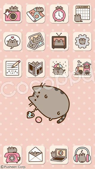 Cocoppa Icone Fond D Ecran Personnalisation Cute App Pusheen Cat Cute Icons