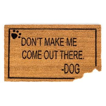 KSP Casual 'Don't Make Me Come Out There' Doormat (Black/Natural)