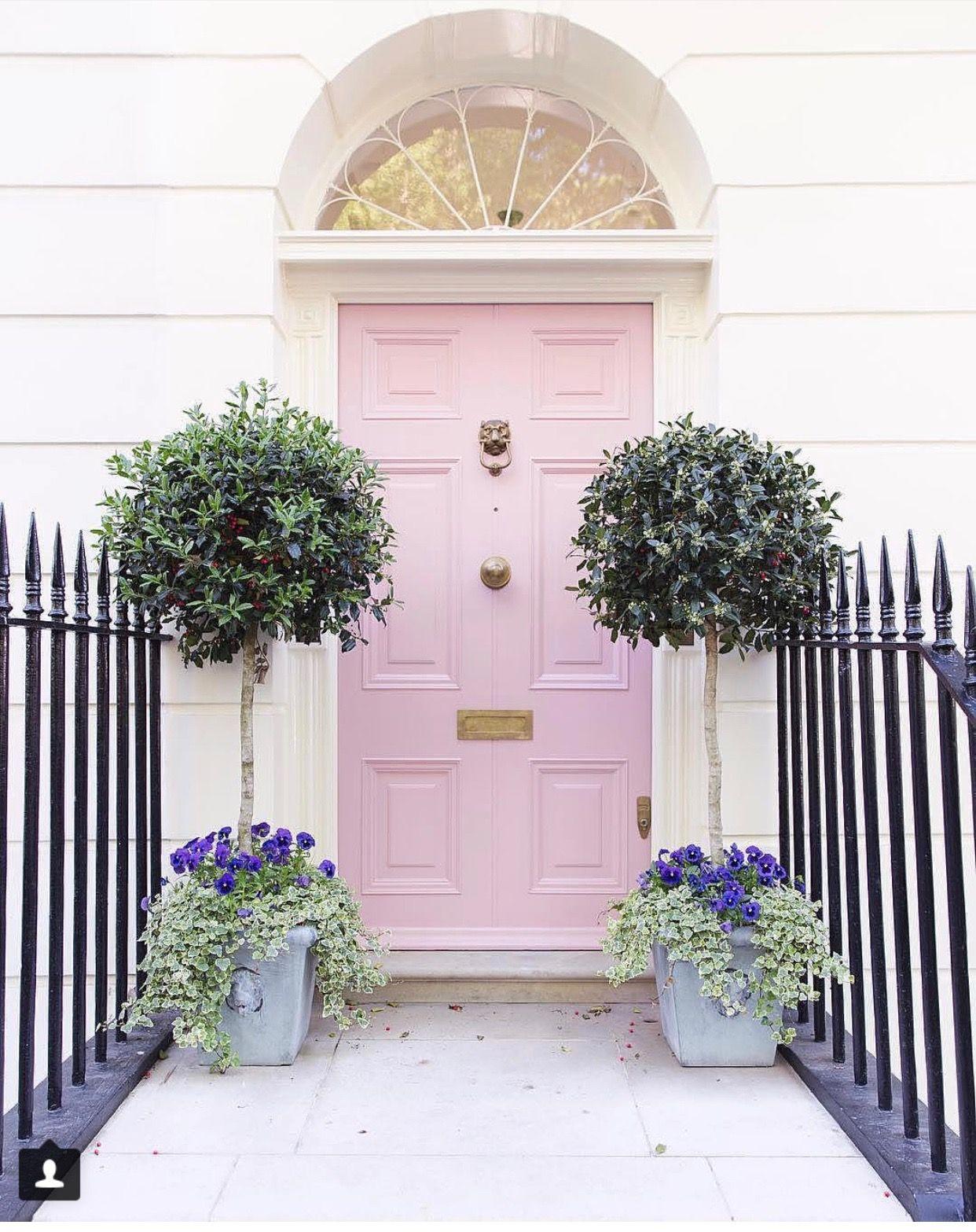 Pale Pink Front Door Pink Front Door Pink Door Doors