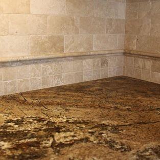 Tumbled Travertine Backsplash With Granite Tumbled Travertine Tile Full Height Backs Travertine Backsplash Travertine Tile Backsplash Tumbled Travertine Tile