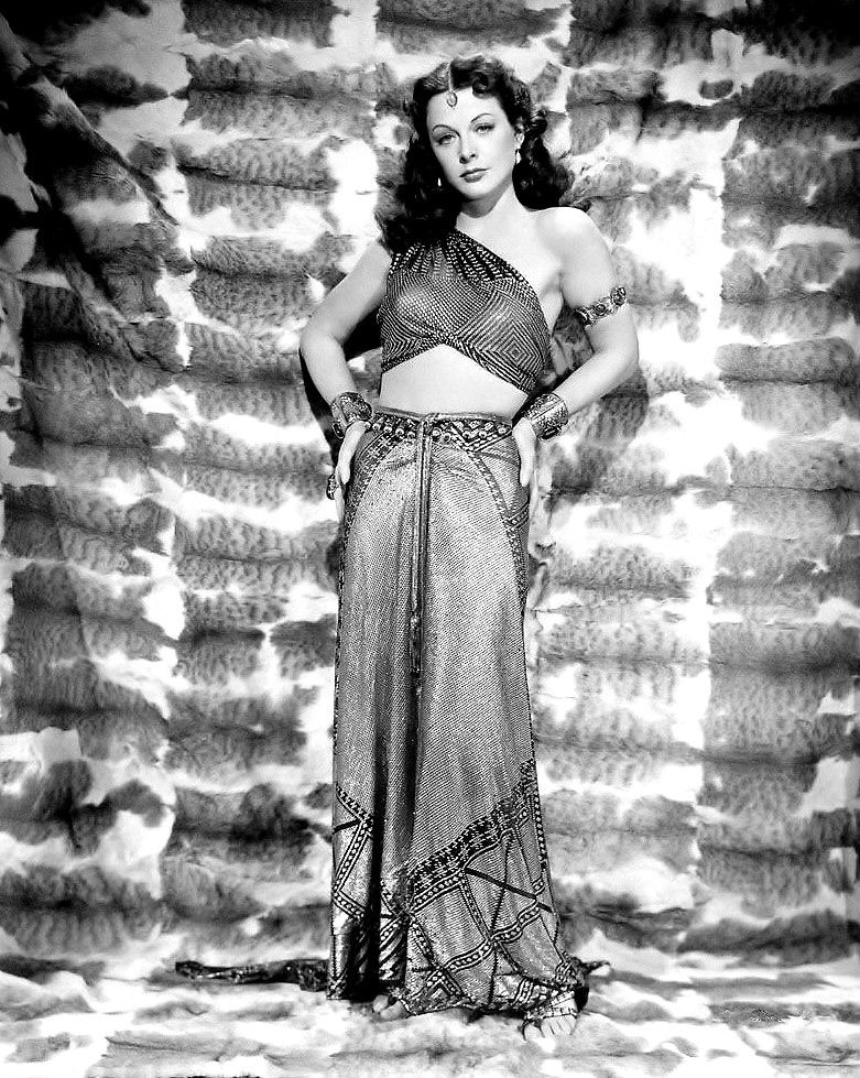 """Hedy has brought out the hooded-cobra quality that was in Delilah, the cruelest, loveliest, most irresistible vamp that ever trod mortal soil."" -Cecil B. Demille