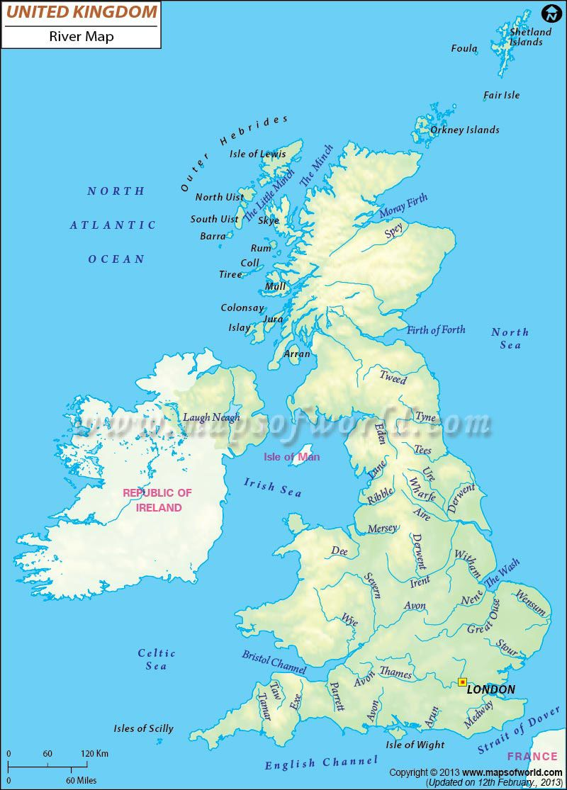Map Of Uk Rivers And Mountains.United Kingdom River Map Map Of Great Britain Map Of