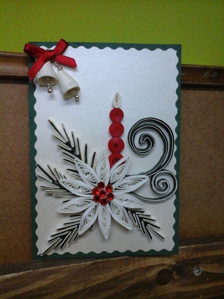 Шаблоны для, квиллинг открытка новый год рождество